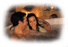 Couple Enjoying a Hot Tub