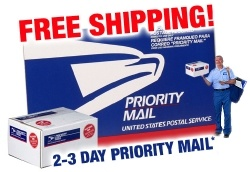 Water Magnets Free Priority Mail Logo